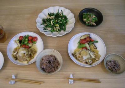 豆腐ハンバーグとニラ玉 2008.9.25