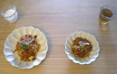茄子と大豆のボロネーゼ 2008.9.28