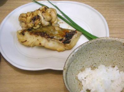親子照り焼きと炊きたてご飯 2009.1.16