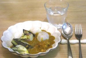 カレーを作ろう!茄子と里芋をトッピング 2009.1.18
