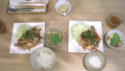 生姜焼き定食 2009.1.22