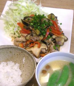 野菜たっぷり!生姜焼き定食 2009.1.22