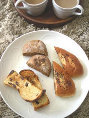 頂きパンとカフェオレランチ 2009.1.25