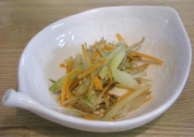鶏ささみと白コンニャクとにんじんとゴボウのサラダ 2009.1.24