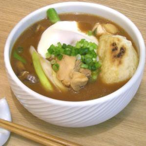 味噌煮込みうどん きび餅入り 2009.2.4