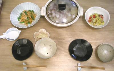 土鍋ごはんとたっぷり野菜 2009.2.20