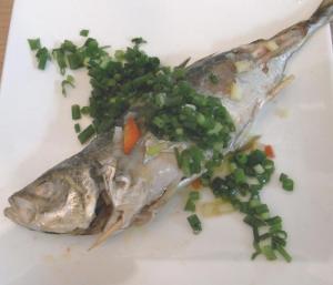 真あじのオーブン焼き 中には野菜たっぷり 2009.3.26