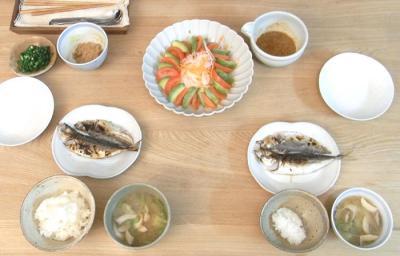 あじの干物定食 2009.4.2