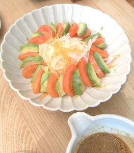 トマト&アボガドサラダ 中華ドレッシング 2009.4.2