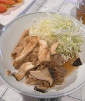 野菜たっぷり生姜焼き 2009.5.26