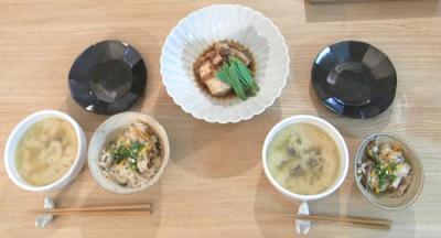 ブリかまとシジミのお味噌汁と鯵の炊込みご飯 2009.6.6