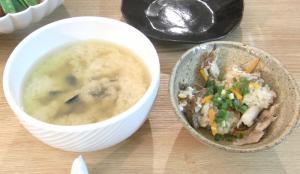 シジミのお味噌汁と鯵の炊込みご飯 2009.6.6