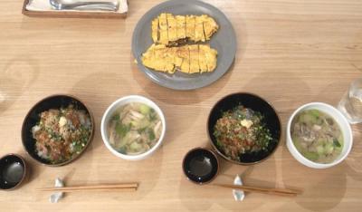 ねばねば海鮮丼とうまき 2009.6.9