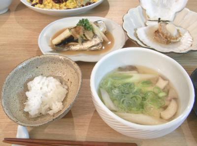 お魚と野菜たっぷり晩定食 2009.6.11