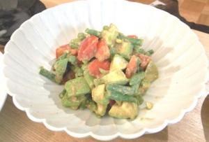 アボガドといんげんとトマトのサラダ 2009.6.12
