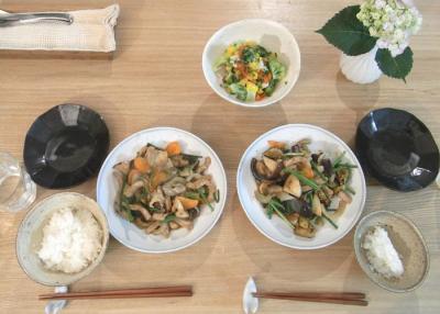 酢豚とホタテのマリネサラダ 2009.6.13