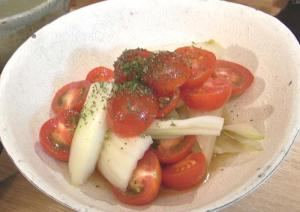 トマトとセロリのレモンサラダ