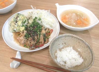 豚の生姜焼きとスープとライス!2009.6.23