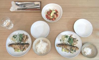 サワラと野菜の香草焼き 2009.6.24
