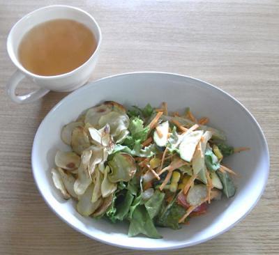 ジャガイモチップ&サラダ 2009.6.30