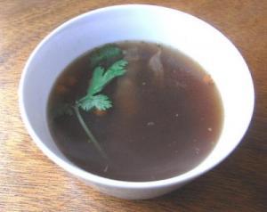 五星鶏麺のランチメニュー 薬膳スープ。2009.7