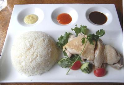五星鶏麺のランチメニュー 海南チキンライス
