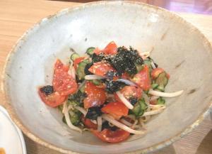 夏野菜と海苔のサラダ 2009.7.15