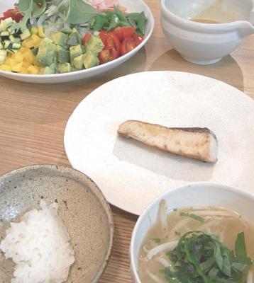 ブリの塩焼き定食 2009.7.16