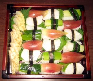 野菜寿司の弁当