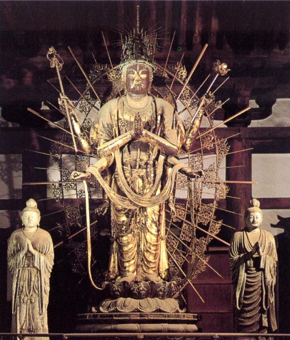 東大寺-不空羂索観世音立像