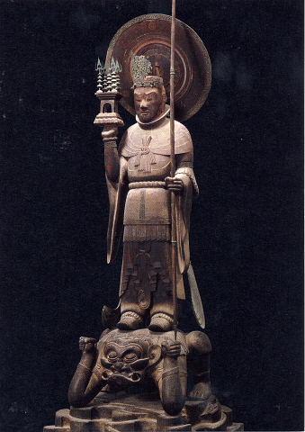 法隆寺-四天王立像(多聞天)