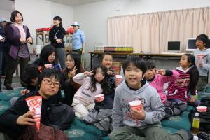 福島 会津若松 楢葉町 仮設住宅 移動映画館 5