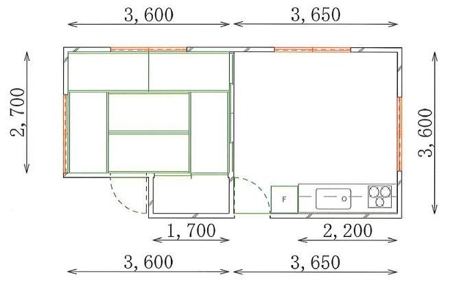 C邸施工前平面