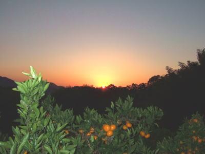 ぶに山の夕焼け