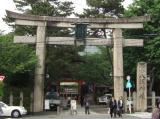 八坂神社「石のとりい」