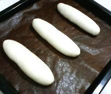 発酵前のコッペパン