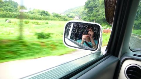 車の中から写真撮影