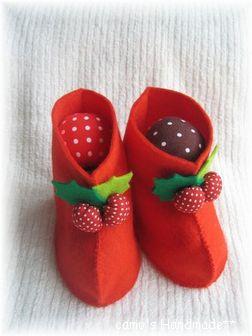 赤いブーツときのこ