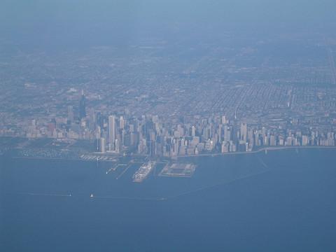 シカゴ上空