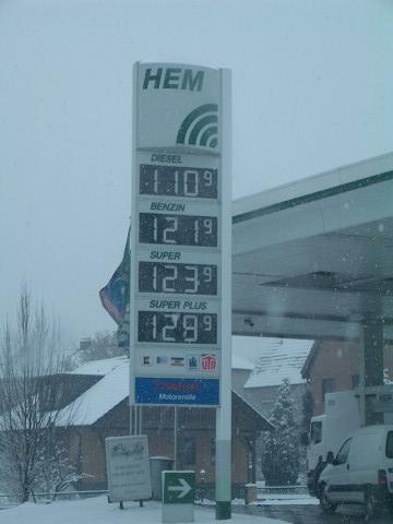 ドイツのガソリンスタンド