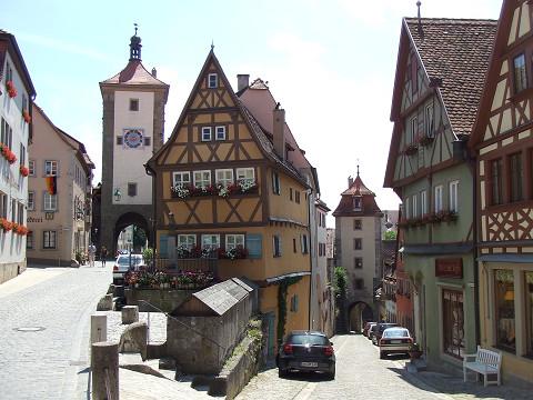 ローテンブルクの有名な路地