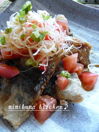秋刀魚のトマト南蛮