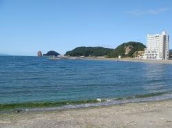 青森海きれいー
