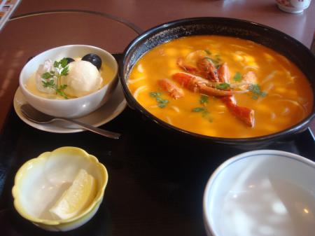 蟹のスープうどんセット