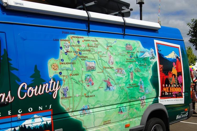 オレゴン地図のペイント
