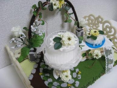 ぷちお花のケーキ(ガーデンテーブル)