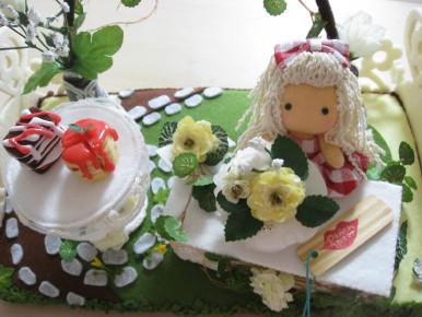 peachさんとコラボ お花のケーキ