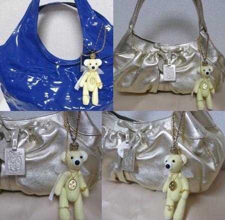 ジュエルなレモンクマさんバッグチャーム
