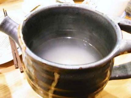 10-7-23夜 蕎麦湯