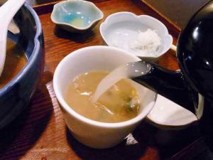 10-8-27 せろり菜 蕎麦湯そそぎ